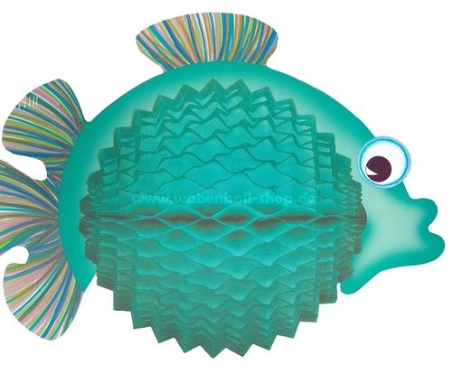 BALLOON FISH 33 cm - helles Petrol