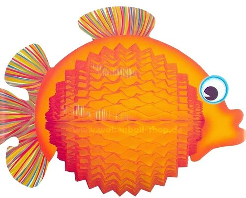BALLOON FISH 33 cm - Gelb-Orange