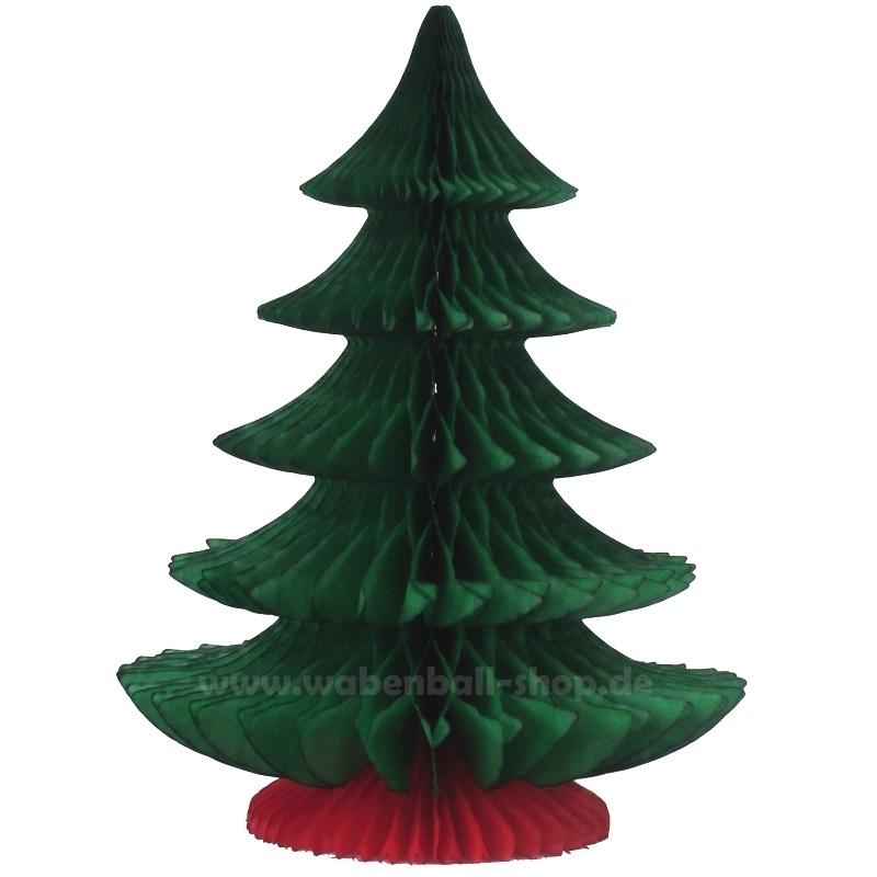 Wabenball-Shop - Weihnachtsbaum - Rot/Grün - 25 cm